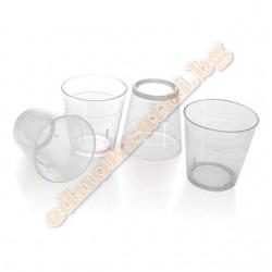 Пластмасови чаши за еднократна употреба 25мл. 50бр.