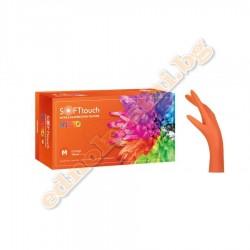 Нитрилни ръкавици Vivid Портокал- за еднократна употреба