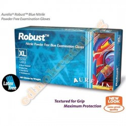 Нитрилни ръкавици Robust Сини- Индустриални  - за еднократна употреба